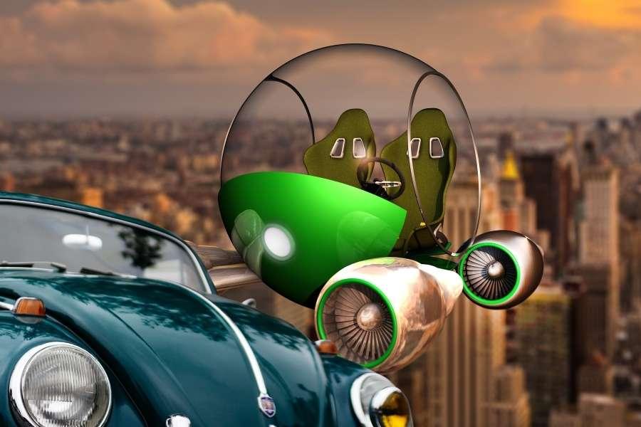 Volkswagen va por los coches voladores en China